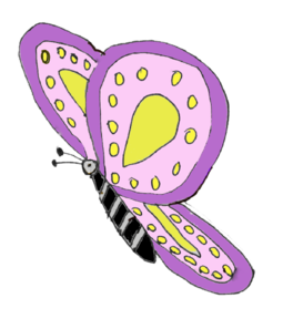 Purple Yellow Butterfly Clip Art at Clker.com.