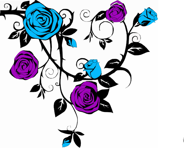 Blue And Purple Rose Clip Art at Clker.com.