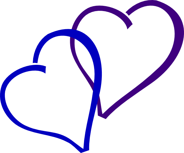 Blue And Purple Heart Clip Art at Clker.com.