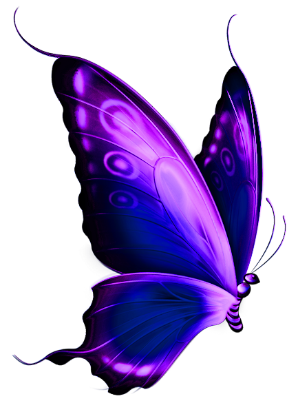 Purple and blue butterfly clipart.