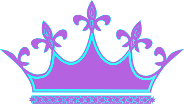 Purple Blue Crown Clip Art at Clker.com.