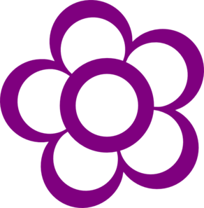 Pink And Purple Flower Clipart.