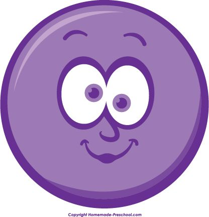 Purple Winking Smiley Face Clip Art.