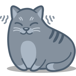 Happy Cat Purring Clipart.