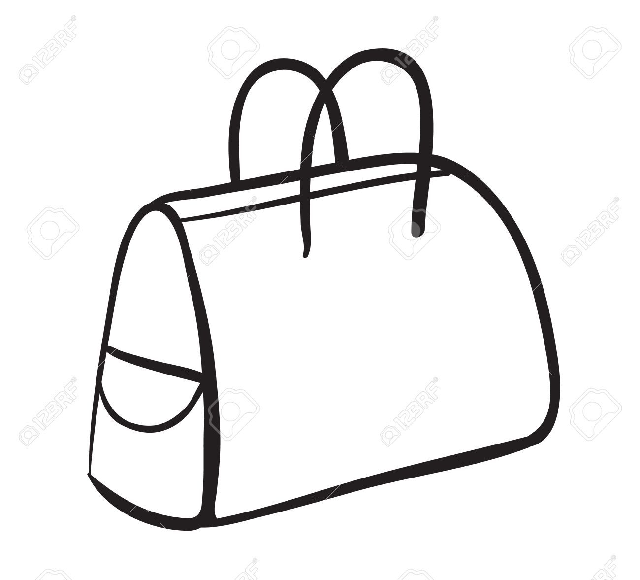 Bag Black And White Clipart.