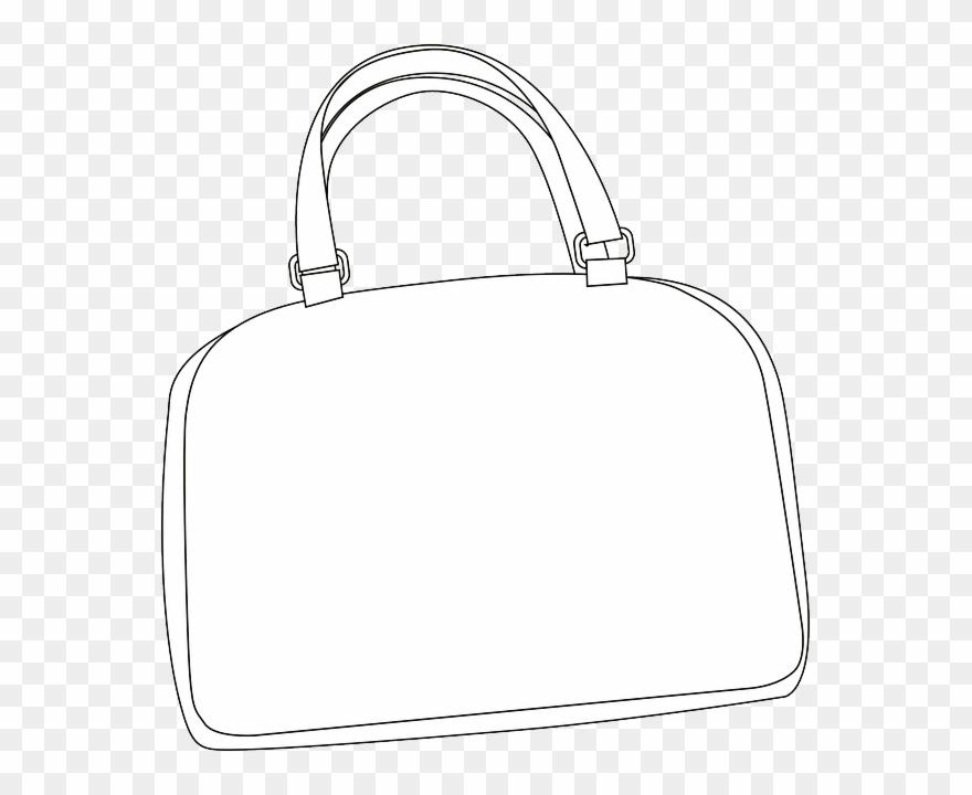 Download Hd Purse Clipart Handbag Clip Art Bag White.