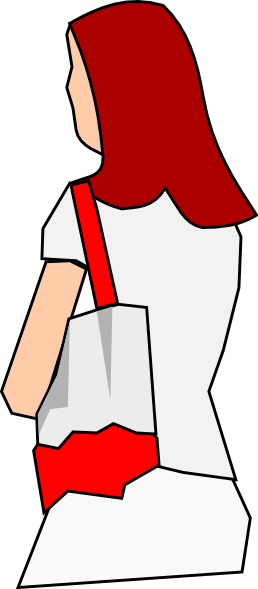 Woman Holding Purse Clipart.