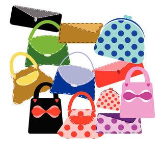 Handbag clipart, Purses clip art, Digital Clipart bags and purse.