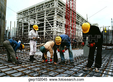 Stock Image of Construction site of nuclear power plant in Pusan.