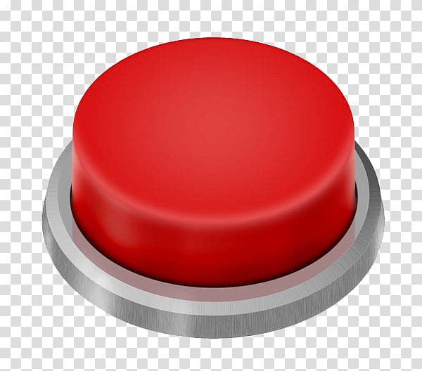 Red push button illustration, Game show Android application.