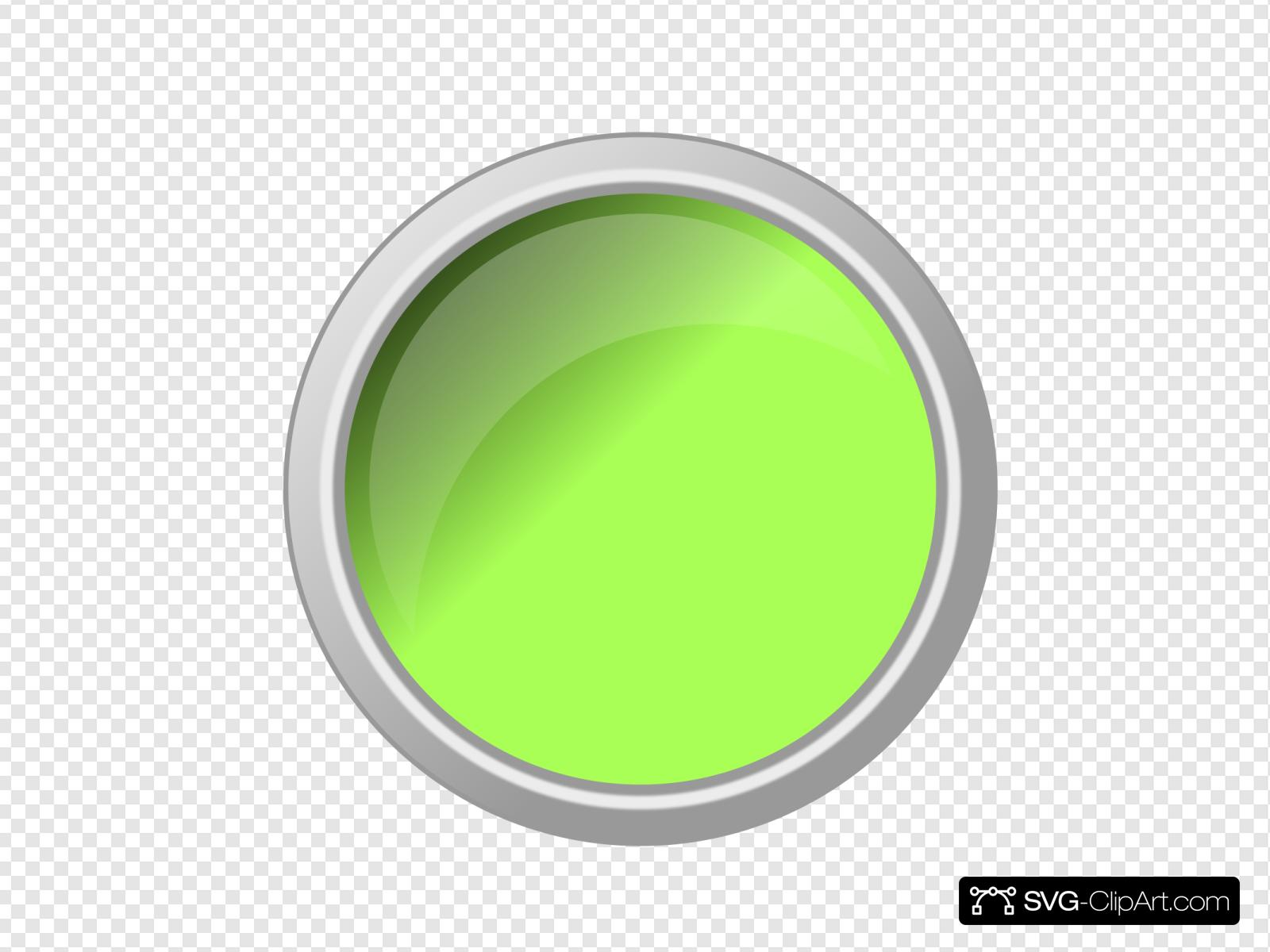 Glossy Green Push Button Clip art, Icon and SVG.