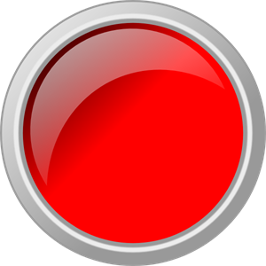 Push Button Glossy Red PNG, SVG Clip art for Web.