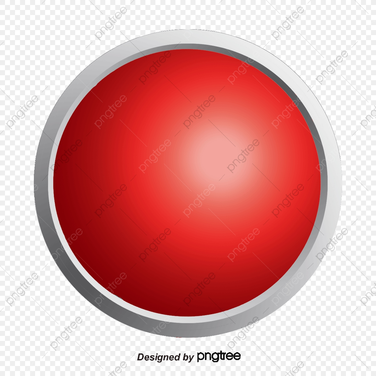 Red Button, Push Button, Hand Painted Buttons, Push PNG.