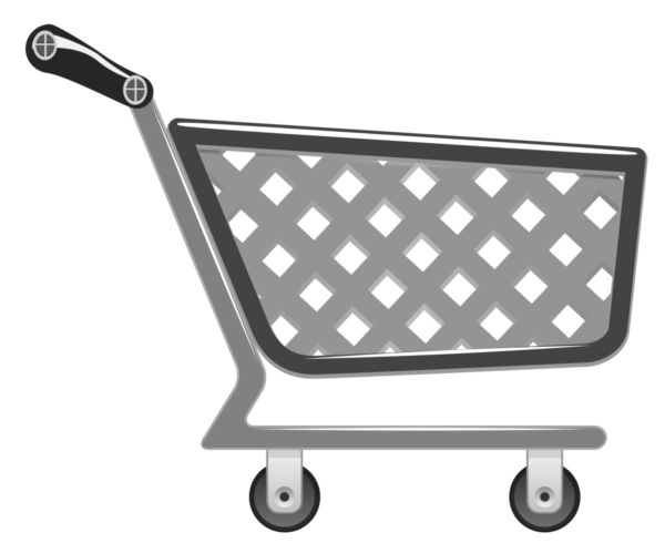 Vector pushcart.