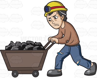 push cart Cartoon Clipart.
