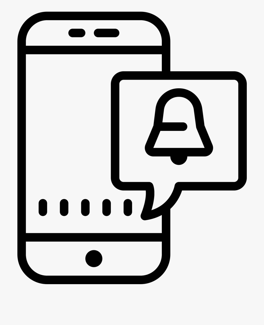 Svg Download Push Notifications Icon.