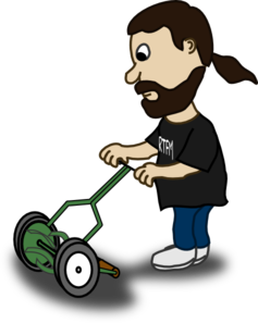 Pushing Lawn Mower Clip Art at Clker.com.
