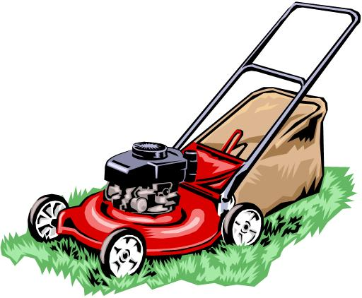 Lawn Mower Clipart Free Vector.