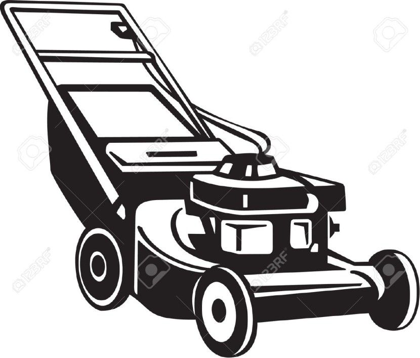 lawn mower clipart clipartion.
