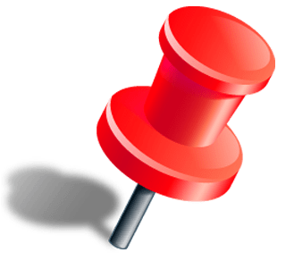 Red Push Pin With Shadow transparent PNG.
