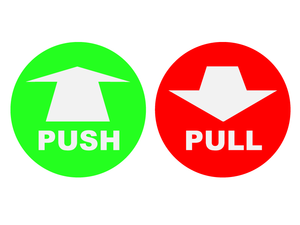 Forces Push And Pull Clipart.