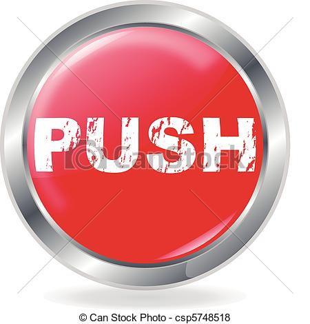 Vector of Push Button on white Background csp5748518.