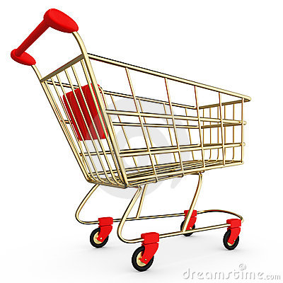 Shopping Cart Stock Photo.