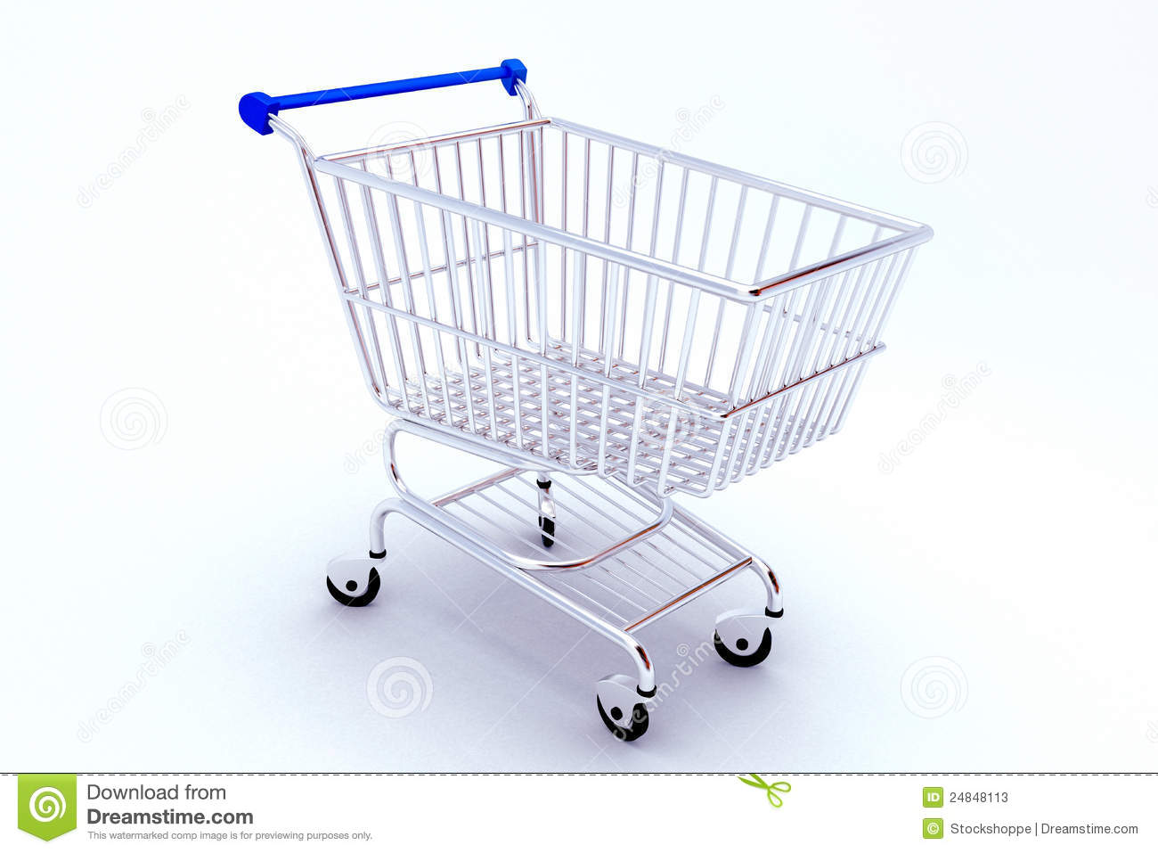 Shopping Push Cart Stock Photos.
