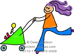 Pushchair clipart #11