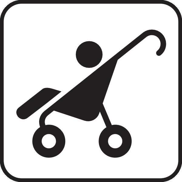 Stroller White Clip Art at Clker.com.