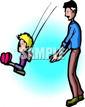 Push On Swing Clipart.