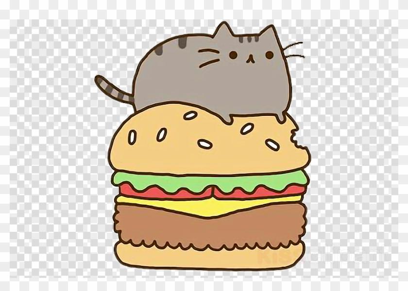 Pusheen Burger Clipart Hamburger Cheeseburger Cat.