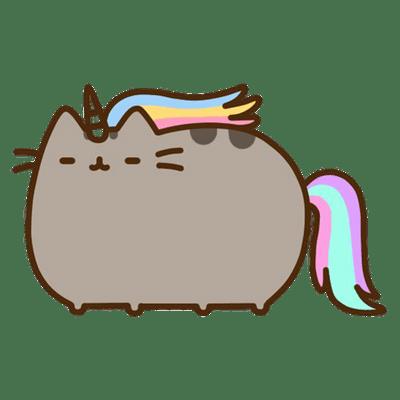 Pusheen Unicorn transparent PNG.