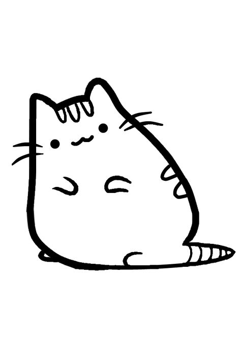 Pusheen Cat Printable Coloring Pages.