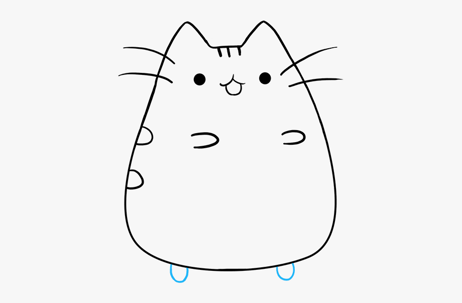 How To Draw Pusheen The Cat.