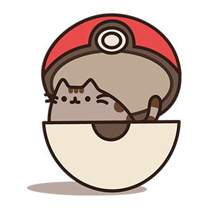 Pusheen in Poke Ball.