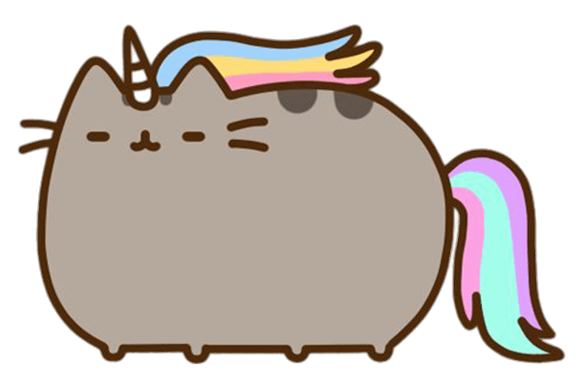 Pusheen Unicorn transparent PNG.