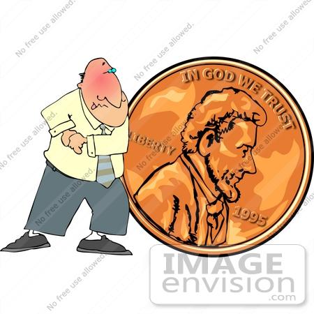 Cheapo Penny Pusher Man Clipart.