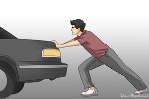 Clipart Pushing A Car.