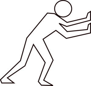 Man Pushing Clipart.