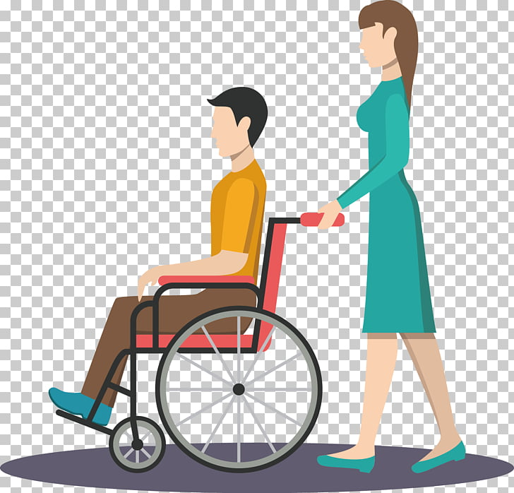 Wheelchair Patient Nursing , Push the wheelchair PNG clipart.