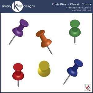 Push Pins Clip Art [SKD.