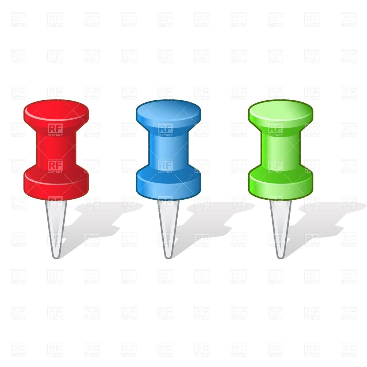 Push pins Vector Image #1261.