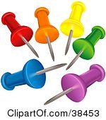 Push pins clip art.