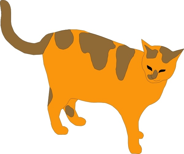Pussy Cat clip art Free vector in Open office drawing svg ( .svg.