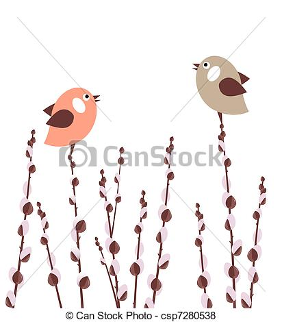 Pussy willow Clipart and Stock Illustrations. 425 Pussy willow.