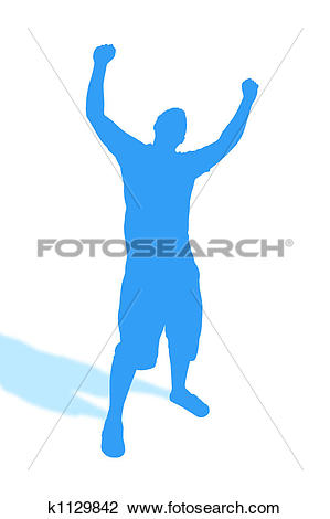 Clip Art of Put Your Hands Up k1129842.