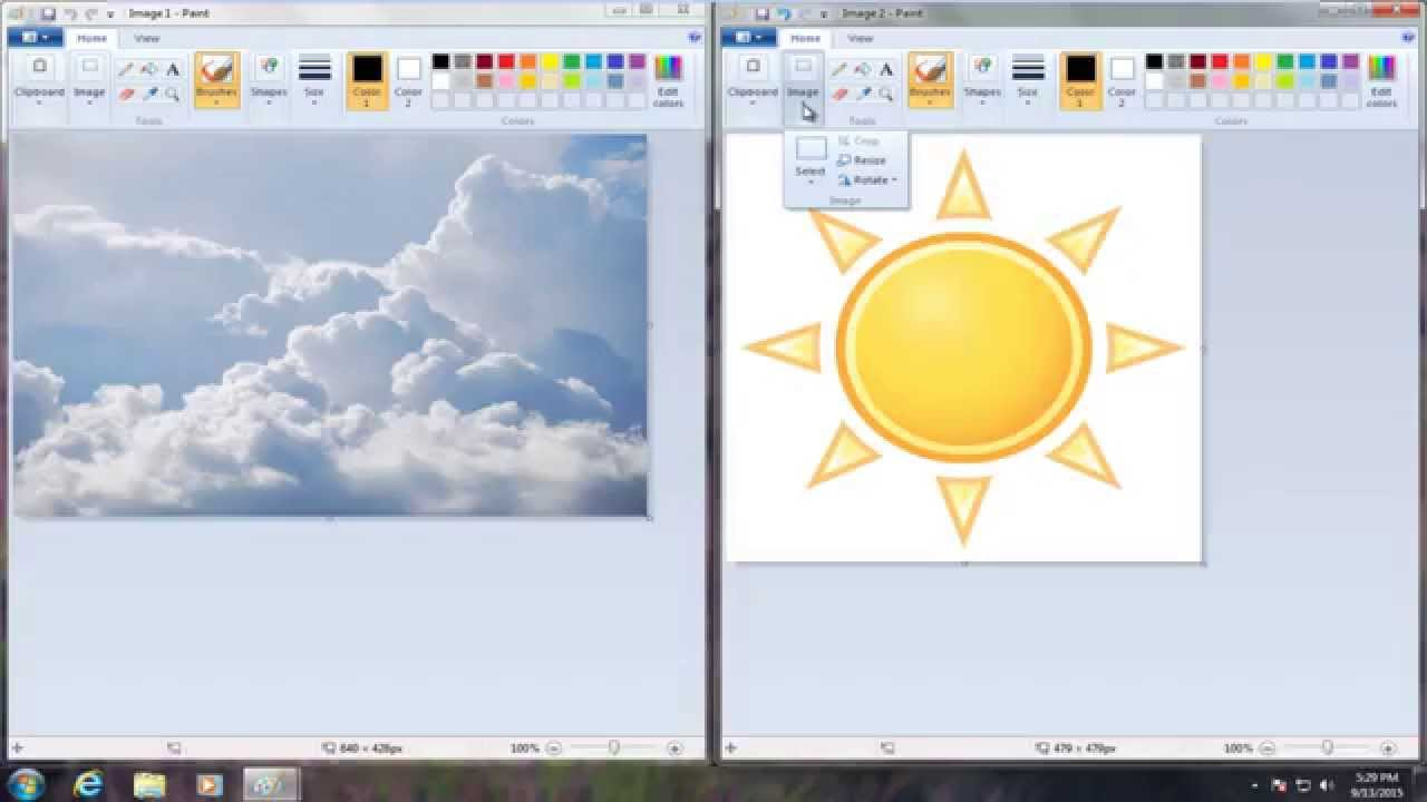 How To Put One Image On Top Of Another Image in Microsoft Paint.