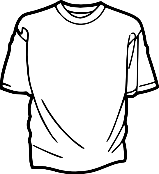 Clothes Clipart Black And White.