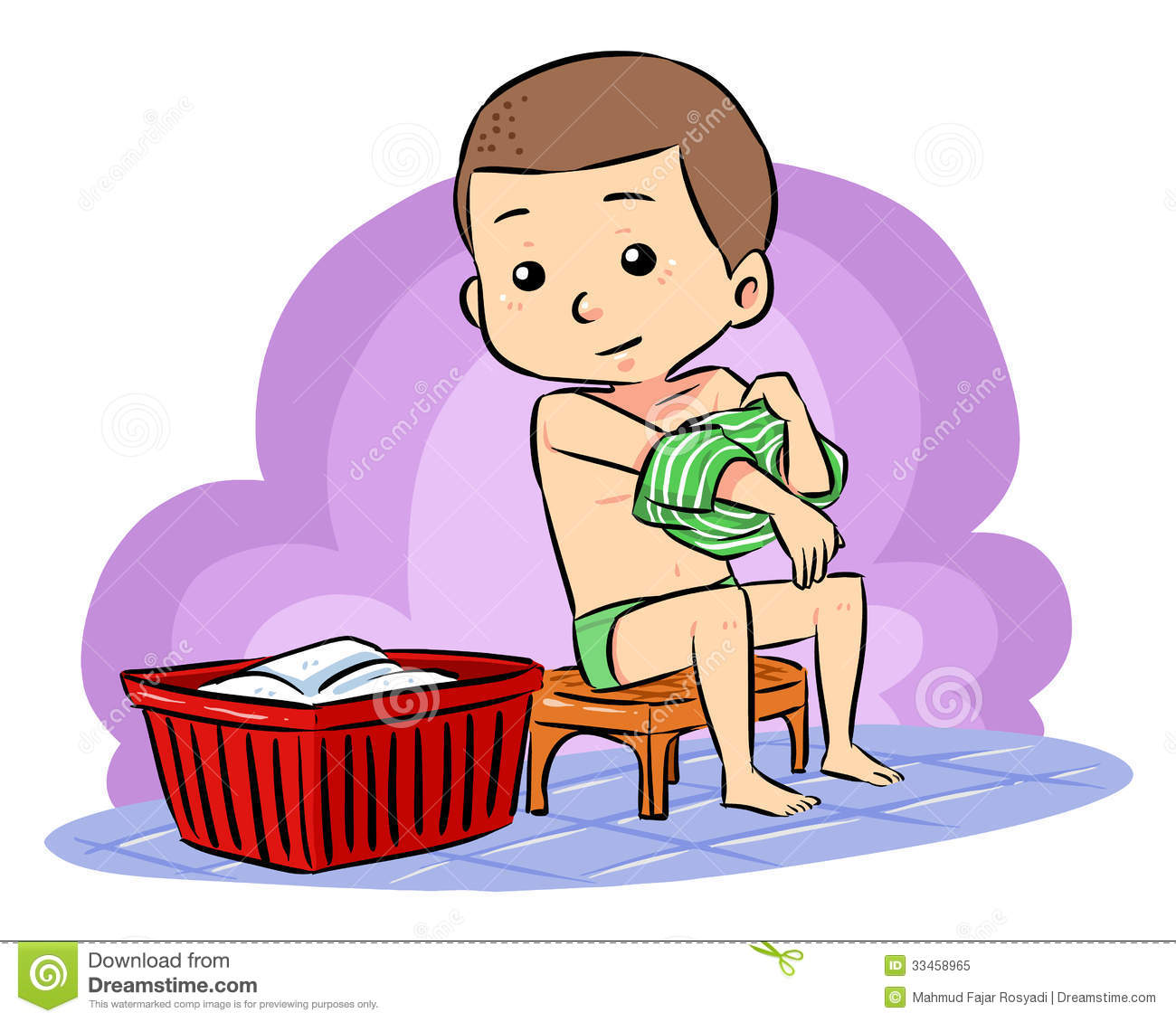 Someone Putting On Clothes Clipart.